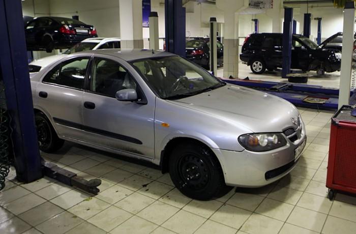 Техническое обслуживание автомобилей Nissan модельного ряда Almera